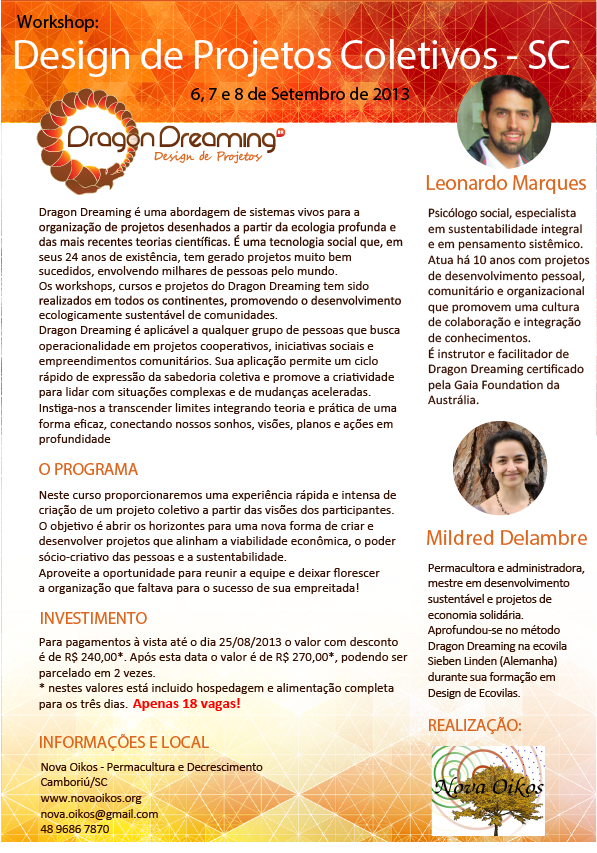 DRAGON DREAMING - Curso de Design de Projetos Coletivos