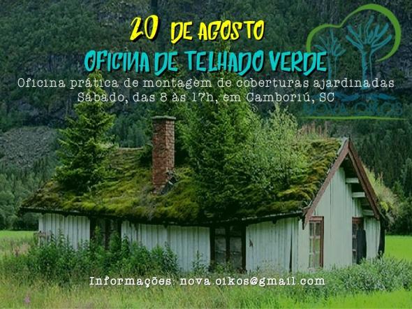 cartaz telhado verde